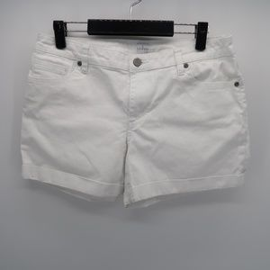 Soho by New York & Company White Rolled Cuff Short